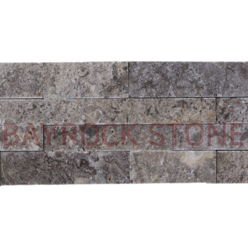 Silver Travertine Ledger Stone