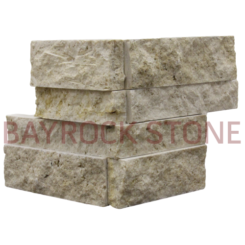 Ivory Travertine Ledger Stone