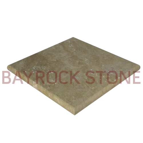 "Ivory Travertine Pier Cap 24""x24""x2''"