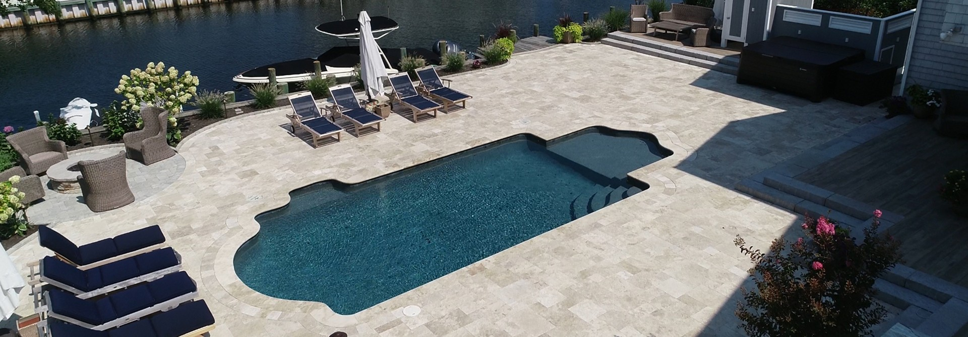 Walnut Travertine and R.Impero Porcelain Paver